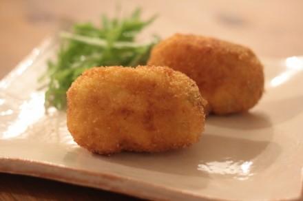 青豆とあさりのクリームコロッケ