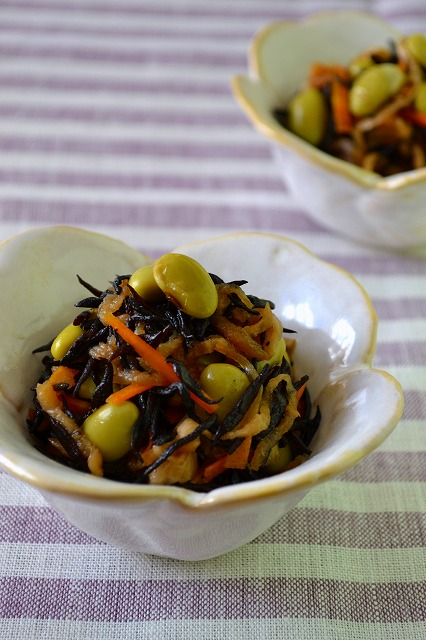 お豆とひじきのファイバーサラダ