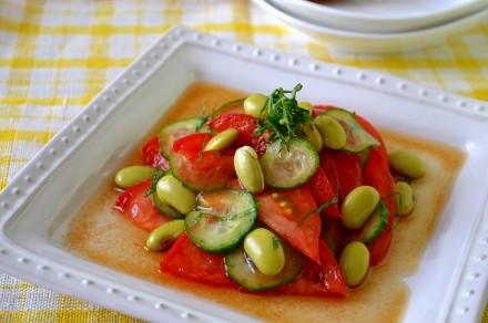 お豆とトマトのさっぱりマリネ